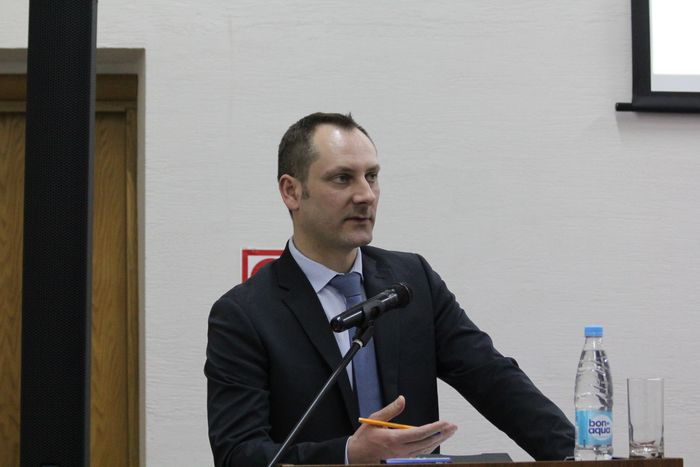Alexander Ovchinnikov addressed the judges of the supreme court of the republic of belarus in minsk